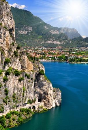 largest Italian lake, Lago di Garda,Italy