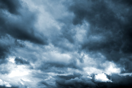 Dark storm clouds before rain. Natural background.の写真素材