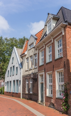 Old houses in the historic center of Leer, Germany