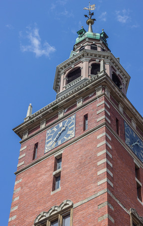 Tower of the Rathaus in Leer, Germany