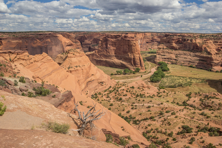 South rim of the Canyon de Chelly National Monument in Arizona, America