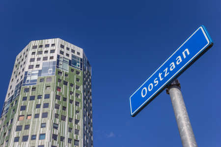 Sgn with the name of neighborhood Oostzaan in Groningen, Netherlands