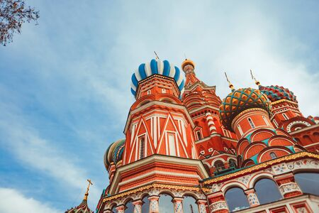 Foto für St. Basil's Cathedral in Moscow on red square against the blue sky - Lizenzfreies Bild