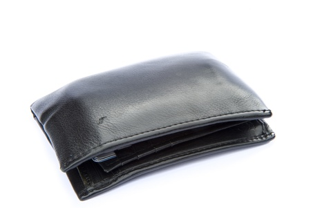 Concept image of leather wallet and financial situation