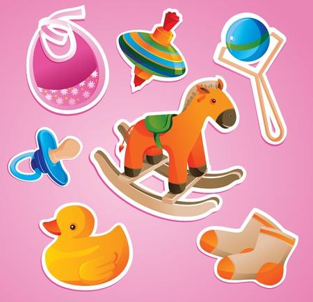 Foto de baby's toys collection - vector illustration - Imagen libre de derechos