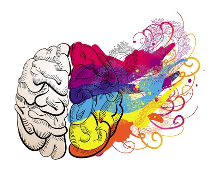 Ilustración de vector creativity concept - brain illustration - Imagen libre de derechos