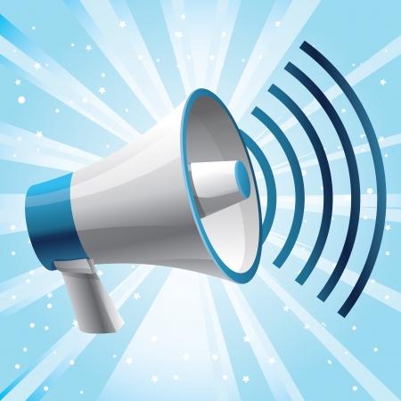 icon megaphone - communication concept