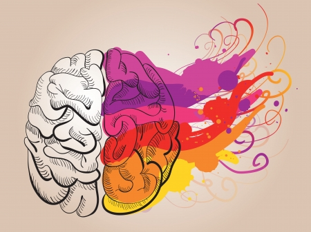 Ilustración de concept - creativity and brain - Imagen libre de derechos