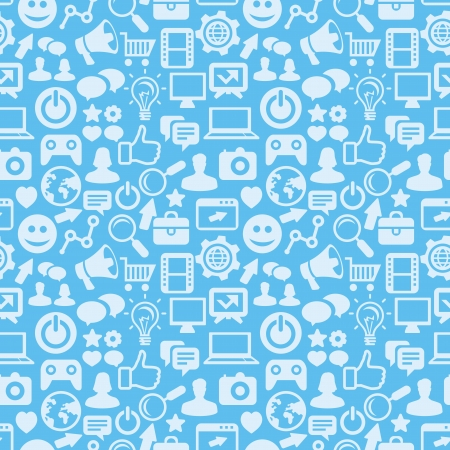 Illustration for  seamless pattern with social media icons - abstract background - Royalty Free Image