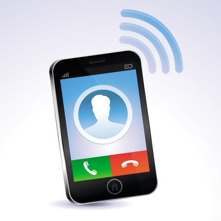 mobile phone calling - touchscreen concept