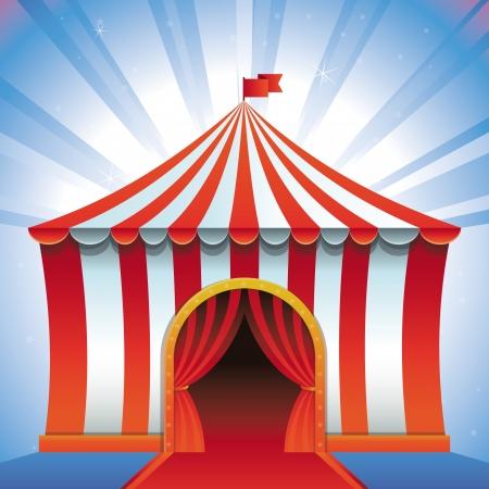 circus tent - bright icon - entertainment concept
