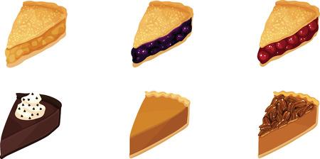 Illustration pour Pie Slices - image libre de droit