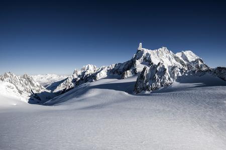 winter landscape from italian alps white mountain