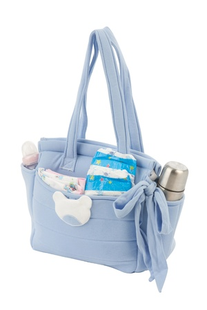 Photo pour Fabric bag for mom to keep baby accessories - image libre de droit