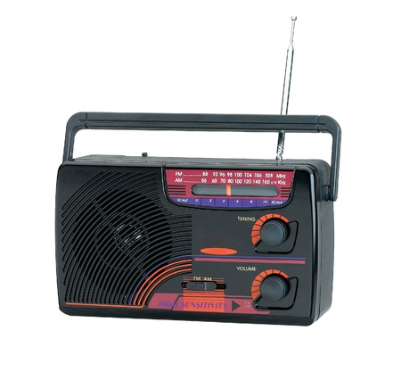 Nice and old fashioned design of the transistor radio