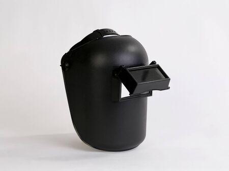 Photo pour Black welding mask isolated on white background - image libre de droit
