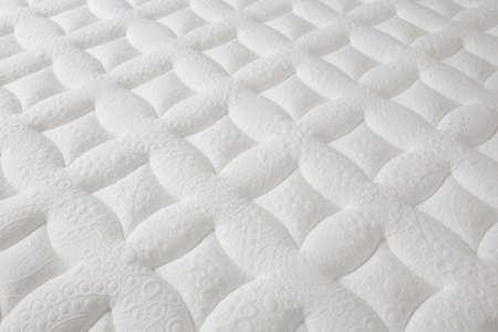 Photo pour closeup of brand new clean texture white surface mattress, beautiful background - image libre de droit