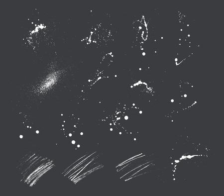 Illustration pour 15 expressive Ink blots and pencil strokes. - image libre de droit