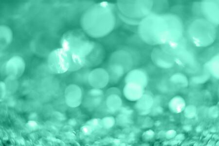 Photo for Mint Christmas background from sparkles. Blurred abstract textures. - Royalty Free Image