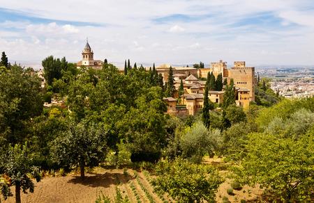 Alhambra Palac in Granada, Spain