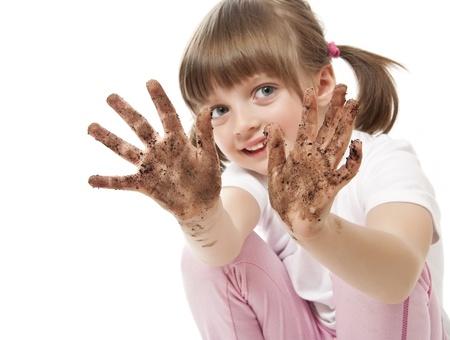Photo pour dirty hand - hygiene concept  - image libre de droit