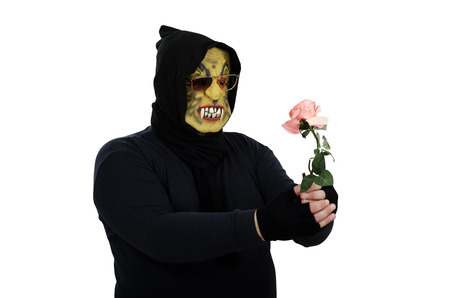 Monster with rose