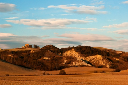 Siena , Tuscany,Italy: hilly landscape afternoon