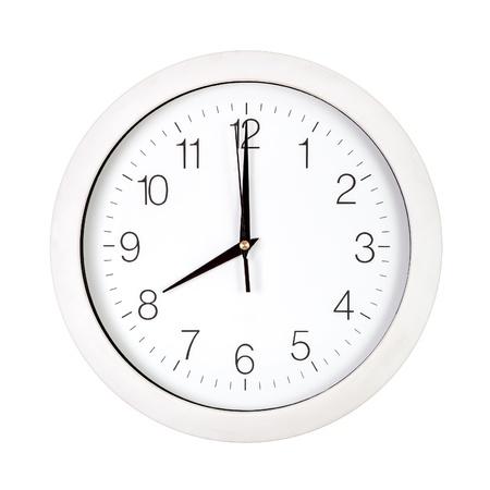 Clock face showing eight o'clock