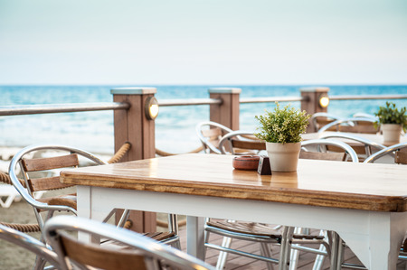 Photo for Cafe on the seaside - Royalty Free Image
