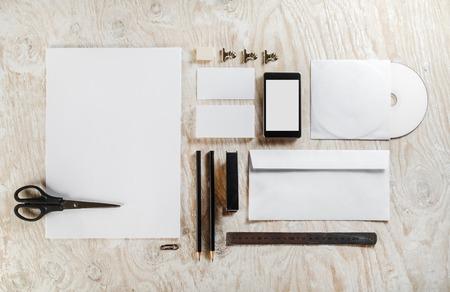 Blank stationery set. Mockup for design presentations and portfolios.