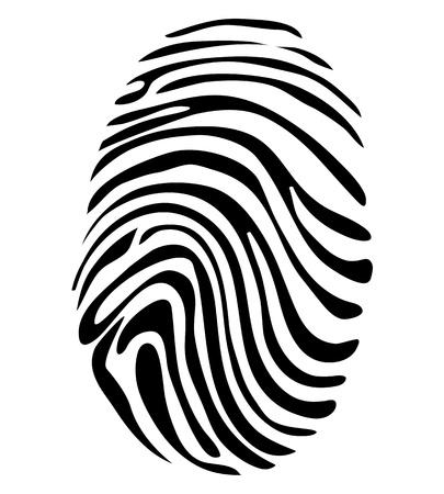 Black and White Fingerprint Concept