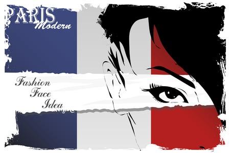 Paris vintage grunge poster, vector illustration