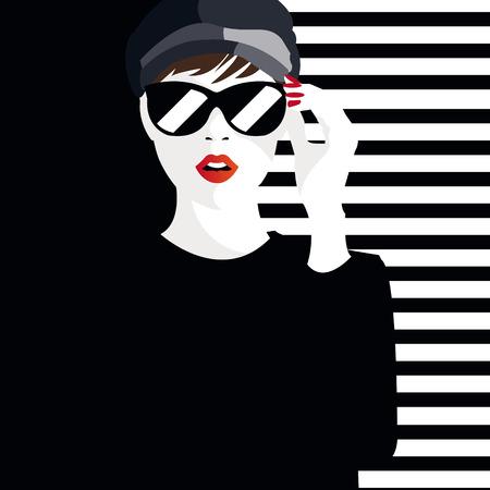 Ilustración de Fashion teenage girl illustration - Imagen libre de derechos