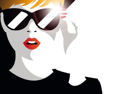 Illustration for Fashion  teenage girl. - Royalty Free Image