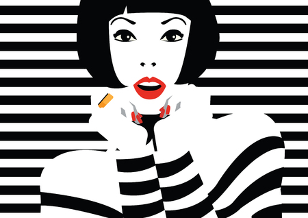 Illustration for Fashion woman in style pop art. - Royalty Free Image