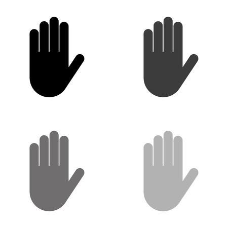 Illustration for Hand - black vector icon - Royalty Free Image