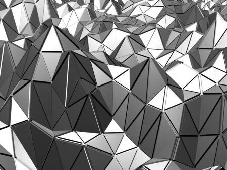 Chrome Metallic Glossy Futuristic Background. 3d Renderの素材 [FY310148066249]