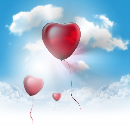 Photo for Heart Balloons - Royalty Free Image