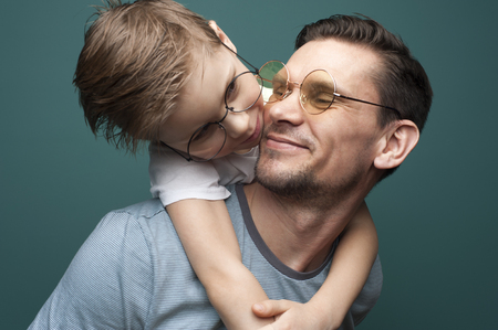 Photo for Happy smiling father and his little kid - Royalty Free Image