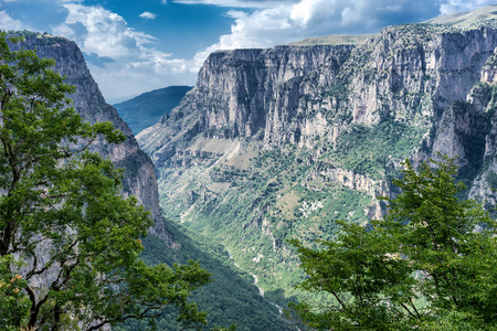 Vikos gorge in Zagoria, Greece.
