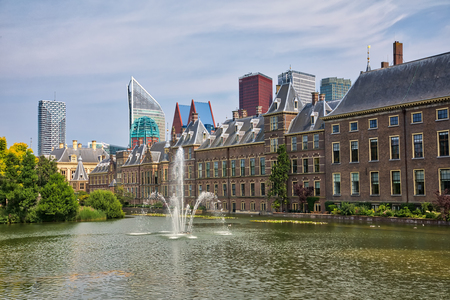 Foto de Beautiful city view of The Hague city in Netherlands - Imagen libre de derechos