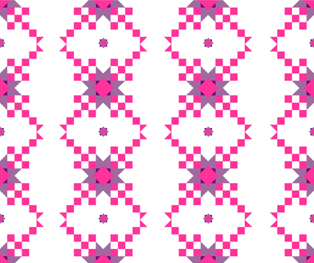 seamless geometric pattern in pink and lilac shades