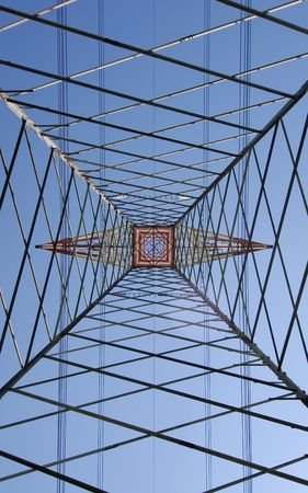 Inside an High Voltage Pylon