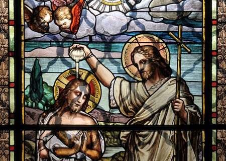 Jesus Christ baptism by Saint John the Baptist