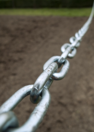 Steel chain, selective focus