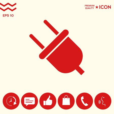 Plug icon symbol
