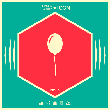 Balloon symbol icon