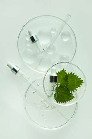 Abstract cosmetic laboratory. Chemical laboratory research. Nature cosmetics.