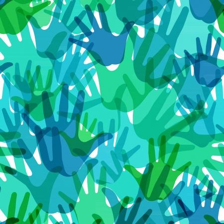 seamless pattern of the palms