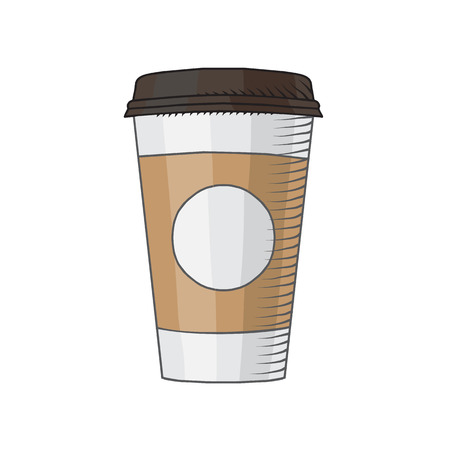 Illustration pour Coffee Cup drawed by hand isolated illustration - image libre de droit